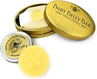 Honey House Naturals Belly Bar Duo – Travel Belly Bar .6 ounce and Baby Belly Bar 1.7 ounce – All-Natural Ultra Moisturizing Lotion Bar Infused with Essential Oils And Butters – Made in the USA