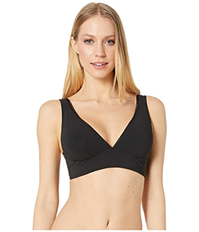 SHAN Kawa Solid Halter Top with Wide Band (Caviar) Women