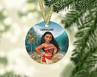 TNMagicShop Moana Christmas Ornament-Disney Princess Moana Ornament-Personalized Christmas Ornament Kids-Unique Ornament- Disney Christmas Ornament