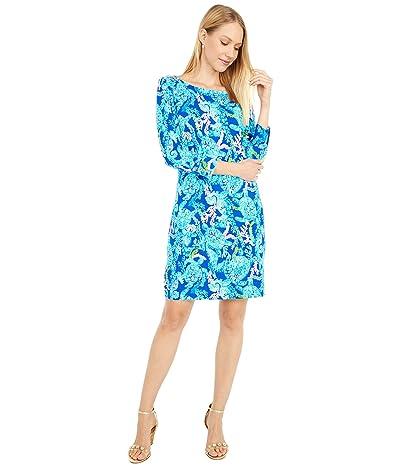 Lilly Pulitzer UPF 50+ Sophie Dress (Corsica Blue Turtle Villa) Women