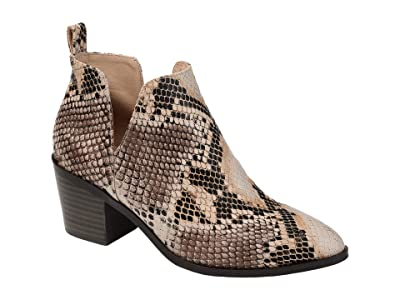 Journee Collection Lola Bootie (Snake) Women