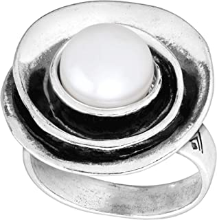 Lily Cultured Pearl' 9.5-10 mm Freshwater Cultured Pearl Ring in Sterling Silver