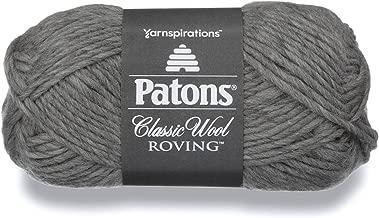 Patons Classic Wool Roving Yarn, 3.5 oz, Gray, 1 Ball