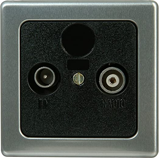 Kopp 348120181 Vision Cache pour Prise dantenne TV//RF