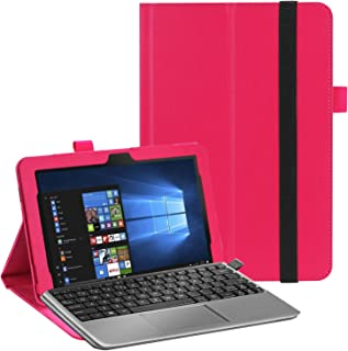 Asng Asus Transformer Mini T103HAF Case - Premium Smart Light Weight Stand Cover for Asus Transformer Mini T103HAF Laptop (Rose red)