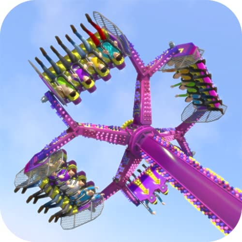 Theme Park Simulator (Roller coasters, achterbahn spiel, inverter, tagada, wild mouse, techno jump and more!)