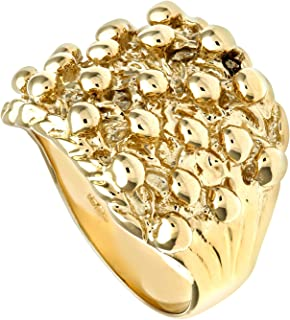Very Rare Babys 9ct Solid Yellow Gold Three Row Keeper Ring 1 grams