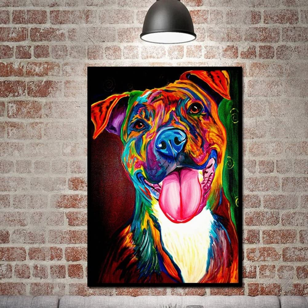 Blue Dog HD Print Art Painting on Canvas Modern Home Decor 20x30 Unframed