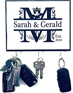 Personalized Monogram Key Holder with Couple's name and Established Year. Wedding Gift - Anniversary Gift - Couple's Gift....