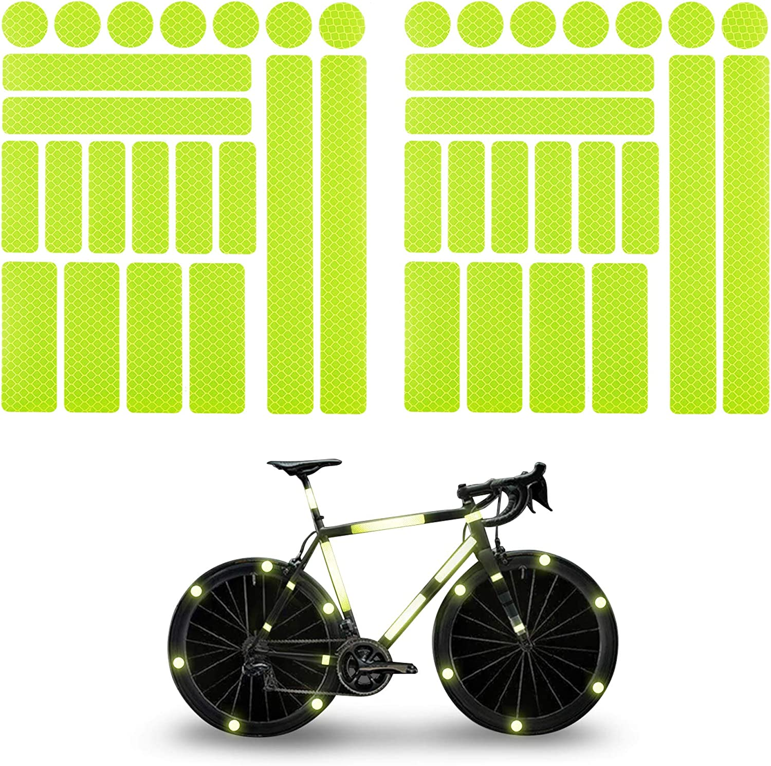 Reflective Stickers for Hard Surfaces Motorcycle Strollers TOMALL Reflective Stickers for Helmet Bicycle Bicycle Reflective Tape Bicycles Wheelchairs Helmets