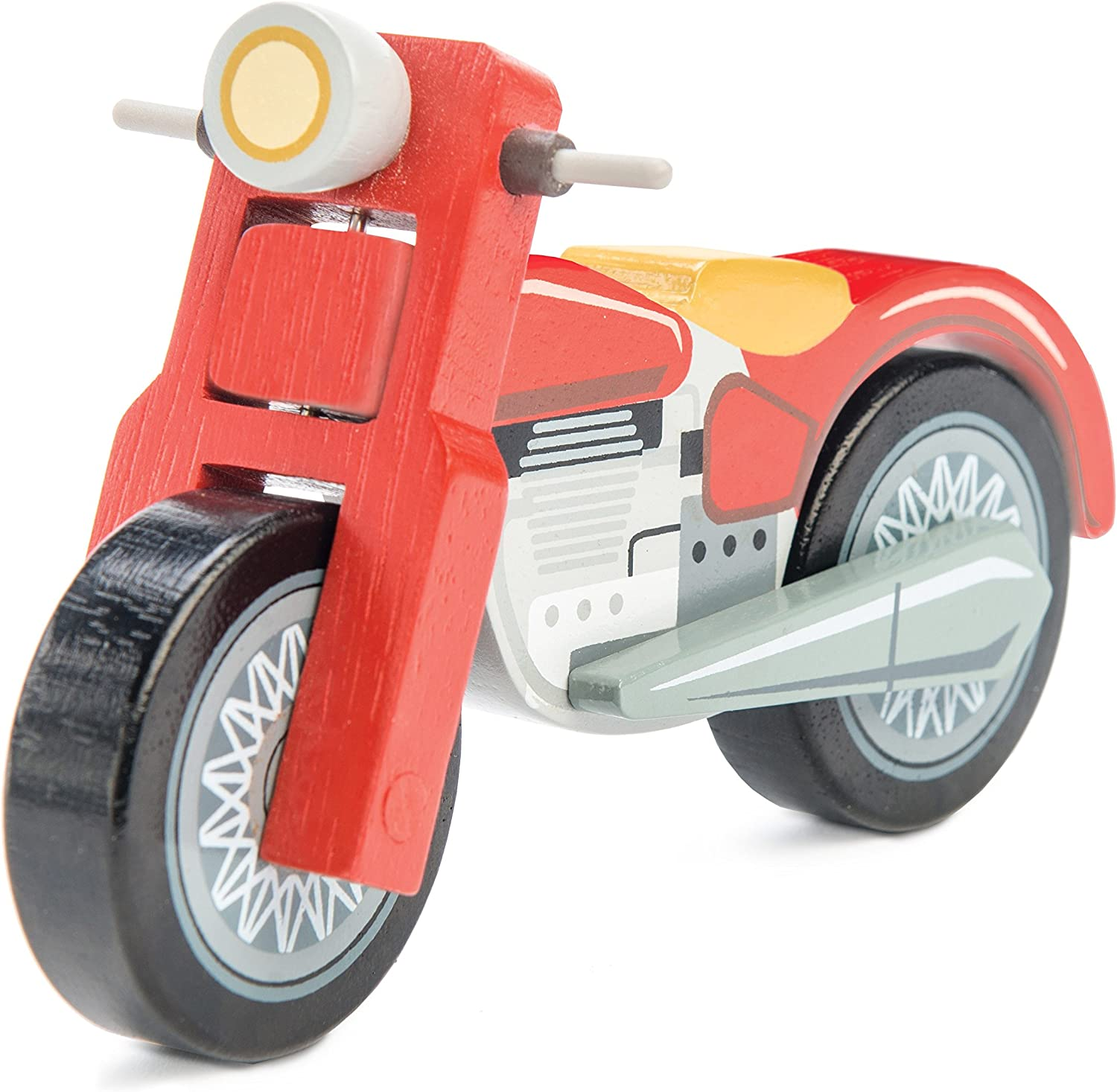 Le Toy Van Wooden Motorbike Premium Wooden Toys for Kids Ages 3 years & Up
