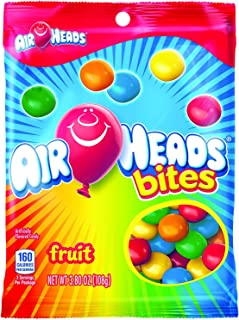 AIRHEADS BITES CANDY PEG BAG, FRUIT, PARTY, 3.8 OUNCE