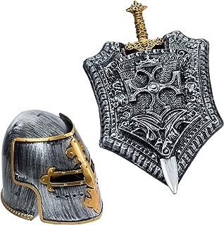 Tigerdoe Gladiator Costume - Helmet, Shield, Sword - Roman Armor Knight - 3 Pc - Halloween Costumes for Men