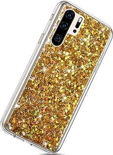 Herbests Kompatybilne z Huawei P30 Pro etui na telefon komórkowy, stras, diament, brokat, błyszczące, przezroczyste etui z...
