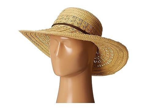 254641d5a68 San Diego Hat Company UBL6478 Ultrabraid Hombre Sunbrim w  Leather ...