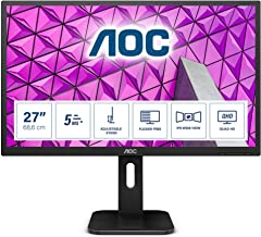 AOC Q27P1 – 27 Zoll QHD Monitor, höhenverstellbar (2560×1440, 60 Hz, VGA,..