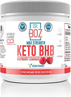 Dr. Boz Keto BHB Powder [Exogenous Ketones Supplement] -Best Keto Supplement for Weight Loss - Keto Supplement | Keto Shake � Keto Diet BHB Powder - [Raspberry Lemonade 244g]