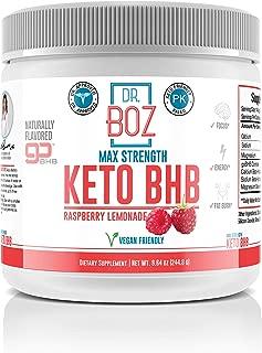 Dr. Boz Keto BHB Powder [Exogenous Ketones Supplement] -Best Keto Supplement for Weight Loss - Keto Supplement | Keto Shake – Keto Diet BHB Powder - [Raspberry Lemonade 244g]