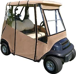 "Premium Golf Cart Cover – Portable & Drivable 4-Sided Black Golf Cart Cover – Club Car Rain Cover for Golfers, Small Towns & Parks – EZGO RXV, TXT, EZGO Golf Cart Cover (60"" L X 44"" W)"