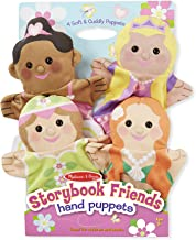 "Melissa & Doug Storybook Friends Hand Puppets, Puppet Sets, Princess, Fairy, Mermaid, and Ballerina, Soft Plush Material, Set of 4, 14"" H x 8.5"" W x 2"" L"
