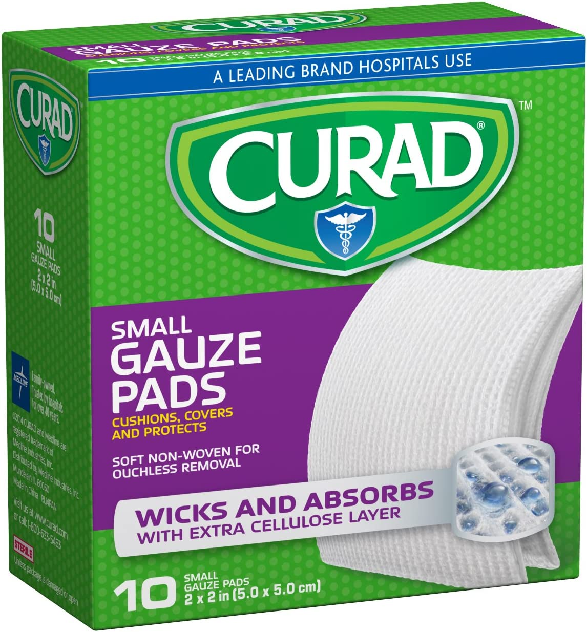 Curad Non-Woven Pro-Gauze 2 Inch x 6 Count of High Indianapolis Mall order 10 Pack