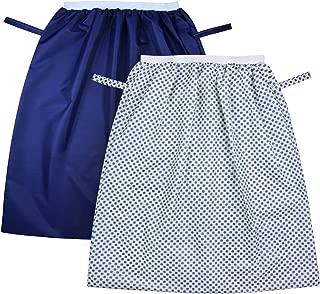 ZITA ELEMENT ウェットバッグ おむつポーチ 防水 大容量 洗濯可 生ごみ キッチン用 ランドリーバッグ 洗濯物入れ(ネイビー)