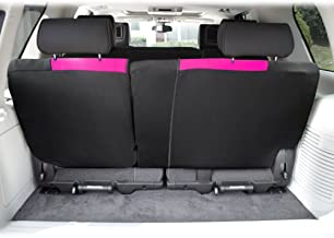 FH Group FB039013PINK Multifunctional Cloth Split Bench Car Seat Cover (Full Coverage Car..