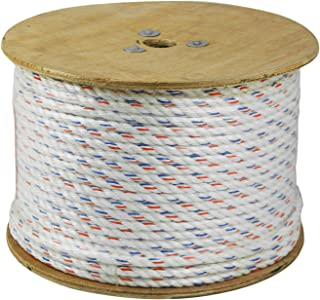CWC 325045 3-Strand Poly-Dacron 600-Feet White Rope with Tracer, 1/2-inch