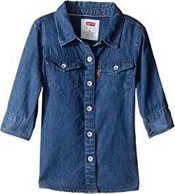 3/4 Sleeve Denim Top (Toddler)