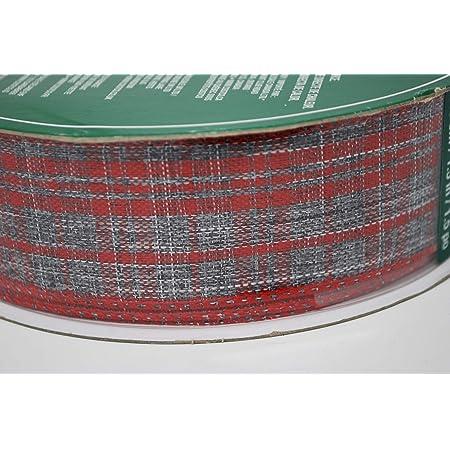 "50 yard rolls 2.5/"" Wide Kirkland Christmas Red Burlap Ribbon wired edges"