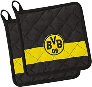 Borussia Dortmund Unisex Bvb Topflappen, schwarz, Einheitsgr