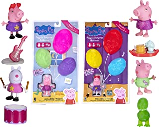 Peppa Pig Surprise Balloons, 2 Bundle Pack - Music and Night Time Theme, Series 2 - Includes 2 Exclusive Character Toy Fig...