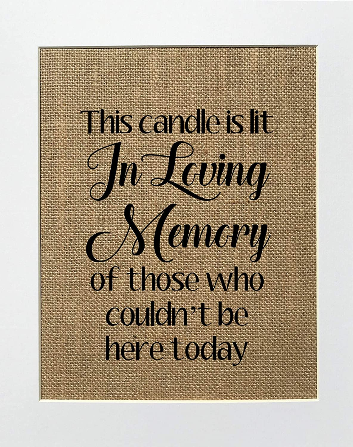 8x10 UNFRAMED This Candle Is Lit In of Sales for sale Who Memory Those Loving Ranking TOP12 C