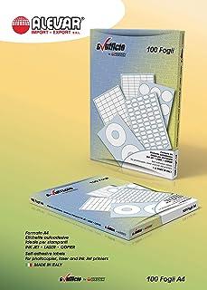 150 99,1 x 93 mm su 25 fogli DIN A4 Kim Kranholdt GmbH 4653 4502 L7166 Etichette adesive universali angoli arrotondati 2 x 3 99,1 x 93 mm colore: Bianco