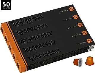 Nespresso Linizio Lungo OriginalLine Capsules, 50 Count Espresso Pods, Intensity 4 Blend, Pure Arabica Coffee Flavors from South America