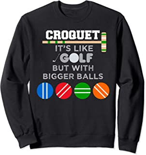 Golf Croquet Game Ball Mallet Wickets Funny Player Gift Sweatshirt