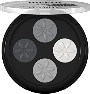 Lavera Beautiful Eyeshadow - Quattro ∙ Color Smokey Grey ∙ Long Lasting, Four Talc-Free Matte Shades, Crease-Resistant - Natural & Innovative Eye Make up - Organic Skin Care