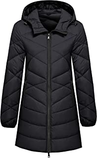 Wantdo Women's Hooded Packable Ultra Light Weight Hip-Length Down Jacket