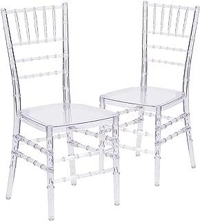 Flash Furniture 2 Pk. Flash Elegance Crystal Ice Stacking Chiavari Chair