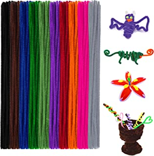 Anvin Pipe Cleaners 100 Pcs 10 Colors Chenille Stems for DIY Crafts Decorations Creative School Projects (6 mm x 12 Inch, ...
