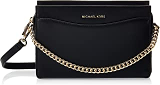 MICHAEL KORS Womens Large Convertible Chain Cross Body Bag, Black