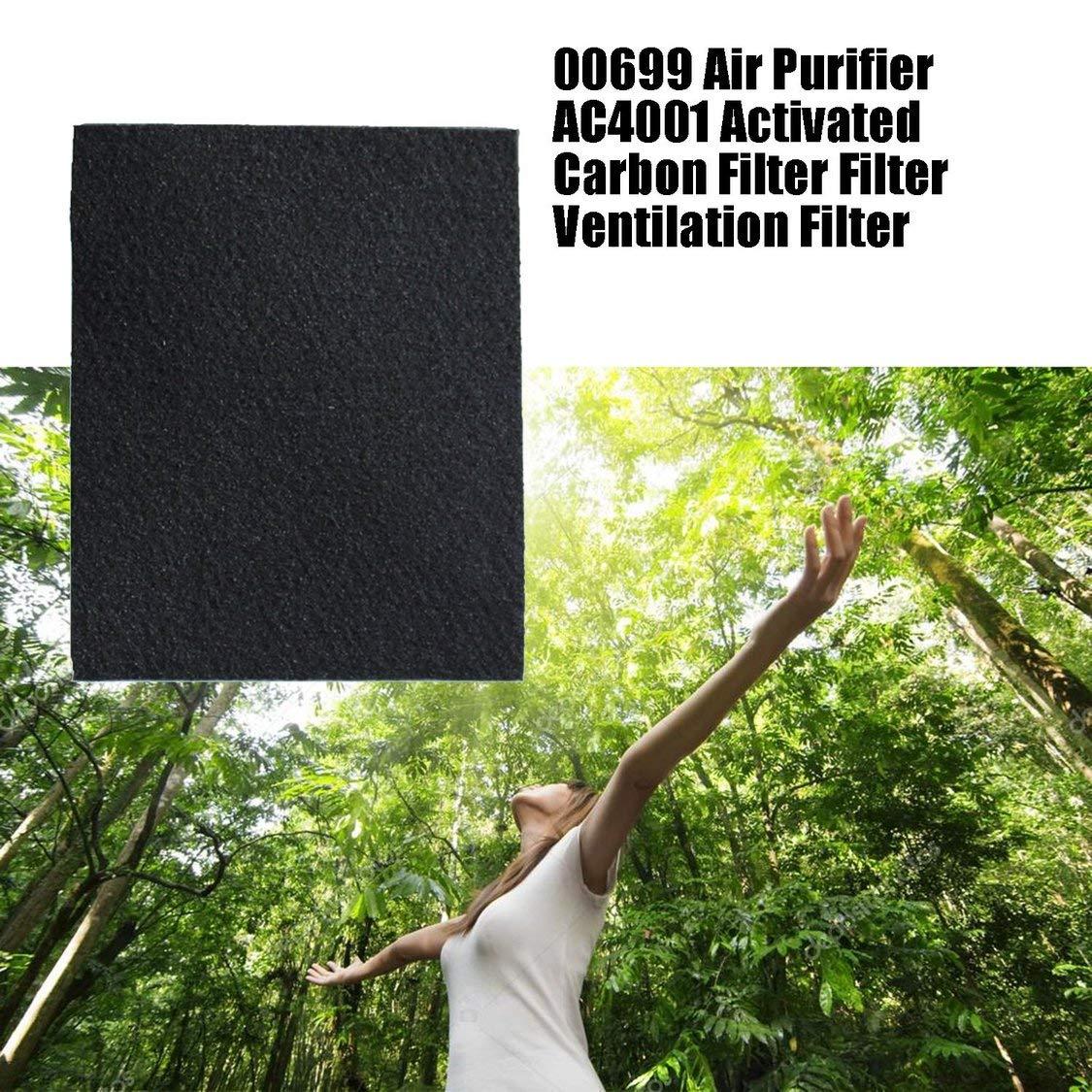 FancyswES8eety 00699 Purificador de Aire AC4001 Filtro de carbón Activado Filtro de ventilación Accesorios de Filtro ...
