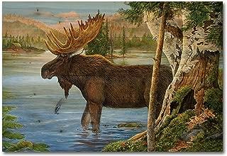 WGI-GALLERY 2416 Majestic Moose Wooden Wall Art