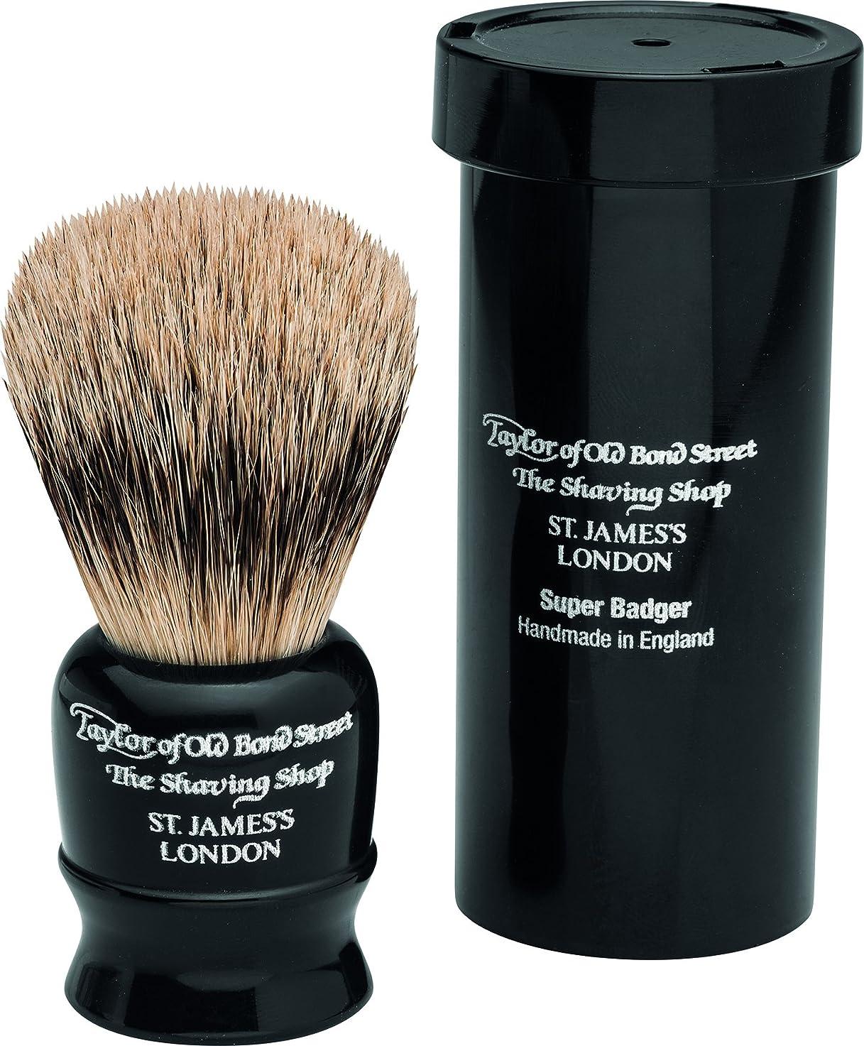 毒液タップキラウエア山Travel Super Badger Shaving Brush, 8,25 cm, black - Taylor of old Bond Street