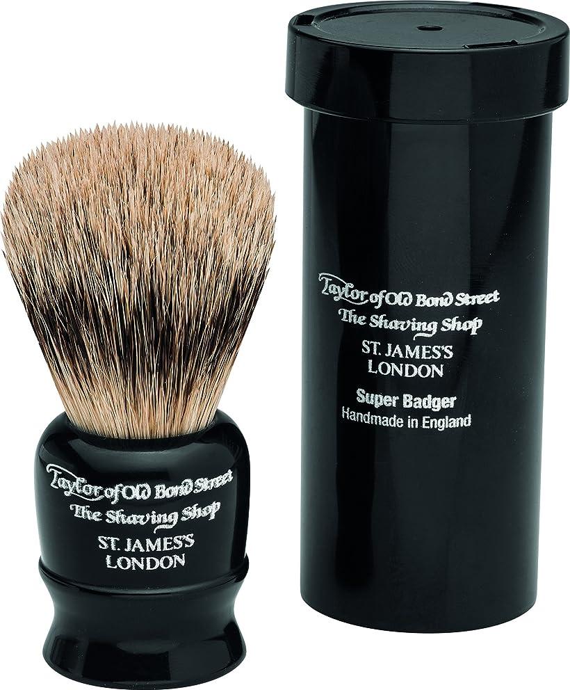 剪断登る暖かくTravel Super Badger Shaving Brush, 8,25 cm, black - Taylor of old Bond Street