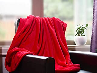 Higher Comfort Luxuriously Soft Premium Throw Blanket - Royal Red - 50