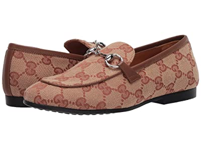 Gucci Kids Jordaan Loafer (Little Kid) (Beige/Ruggine/Cuir) Kid