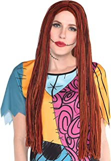 Party City The Nightmare Before Christmas Sally Halloween Wig for Women, One Size