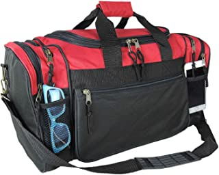 "20"" Sports Duffle Bag w Mesh and Valuables Pockets Travel Gym"