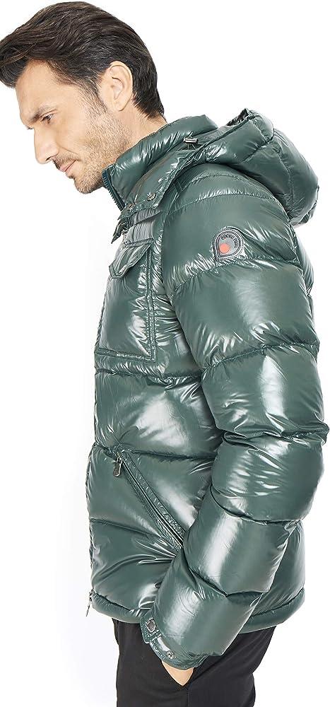 goose feel piumino uomo inverno parka giacca giubbotto sci